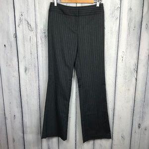 Ann Taylor Loft 2 Kate Pants Gray Pin Striped